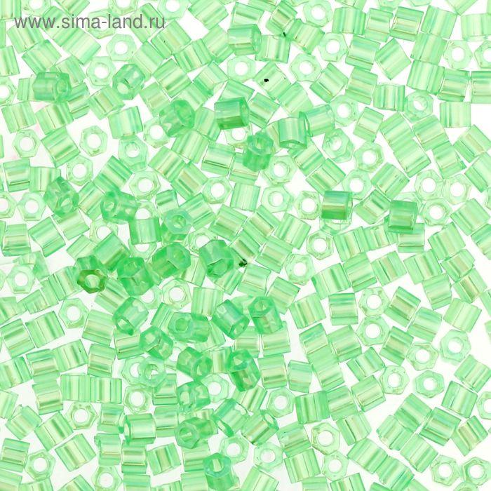 "Бисер Япония ""TOHO"" Hexagon №3, 11/0, 5гр (0144 бл.зел./перл.)"
