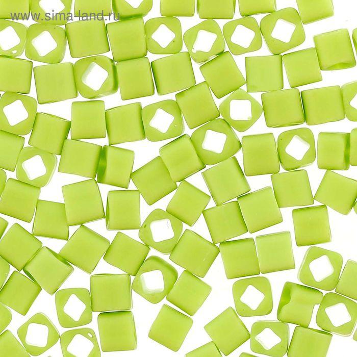 """Бисер Япония """"ТОНО"""" Cube №2, 3 мм, 5гр (0044F салатовый/матовый)"""