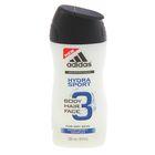 Гель для душа, шампунь и гель для умывания для мужчин, Adidas Hydra Sport, 250 мл