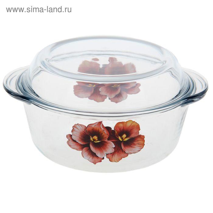 """Кастрюля для СВЧ 1,5 л """"Розовая орхидея"""""""