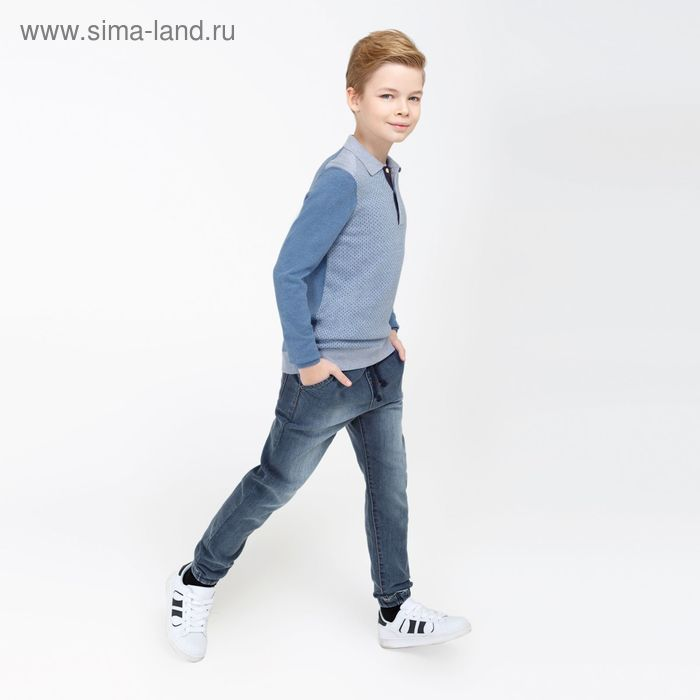 Брюки джинсовые для мальчика Griffin, цвет индиго, рост 170 см (арт. 20110160022)
