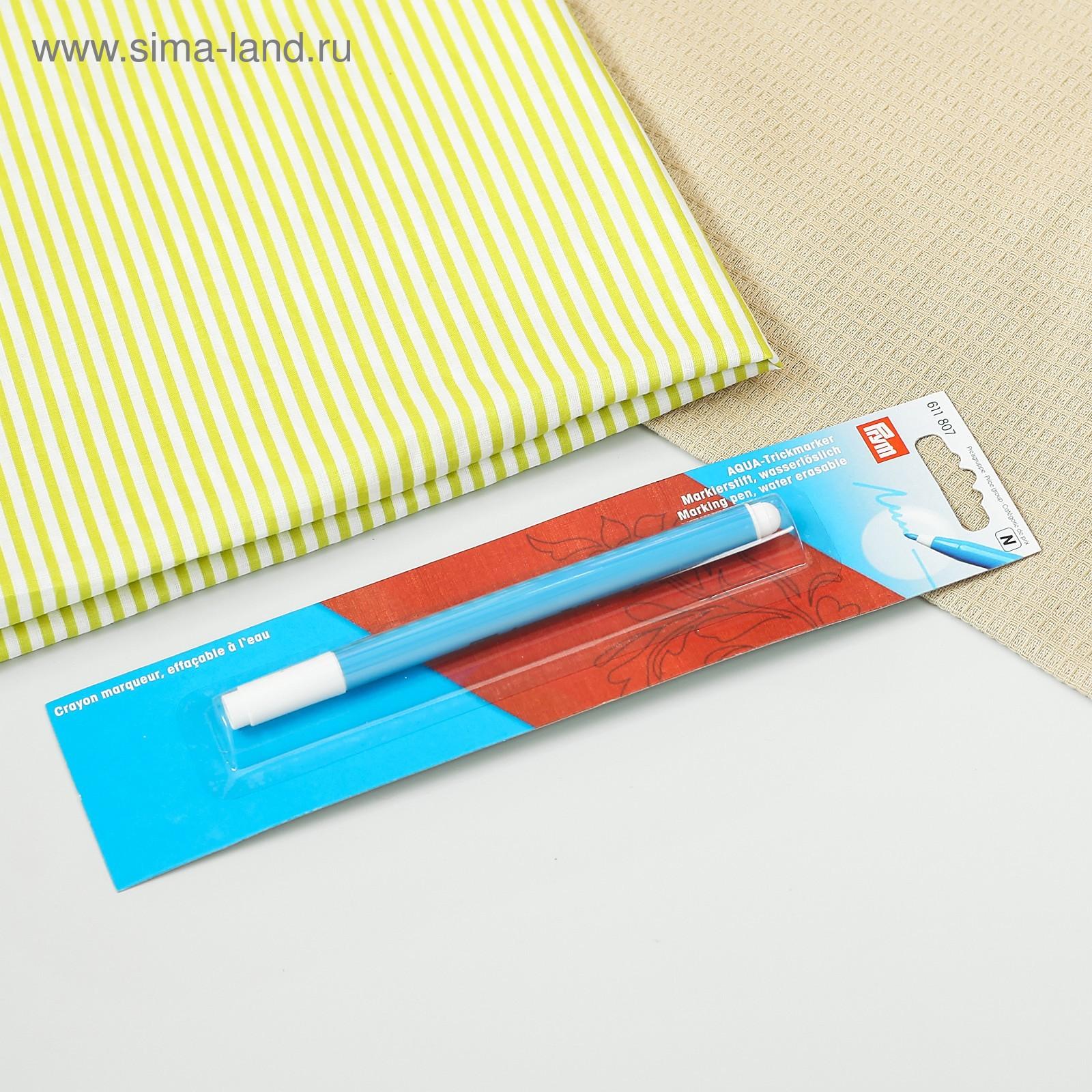 маркер для ткани аква неводостойкий цвет голубой 1352001