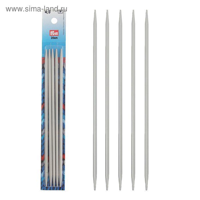 Спицы для вязания, чулочные, тефлоновое покрытие, d=4,5мм, 20см, 5шт