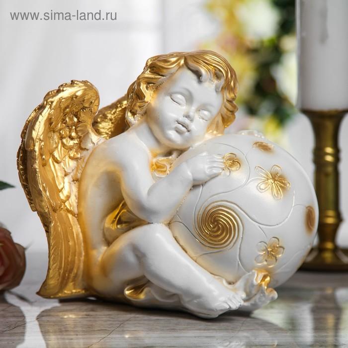"""Статуэтка """"Ангел с крыльями с шаром"""""""