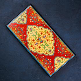 "Backgammon average ""Ornament"", 500 × 250 mm"
