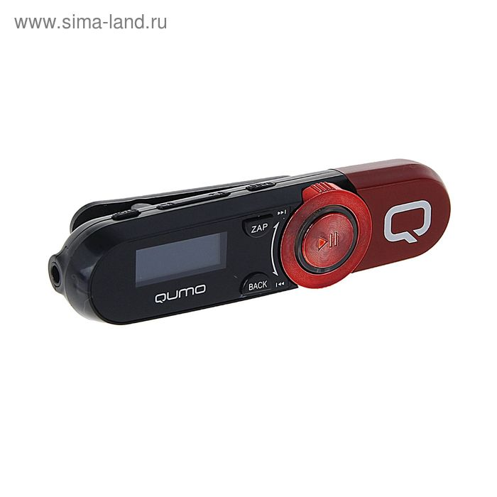 "MP3 плеер Qumo Magnitola Red, 4 Гб, дисплей 1.1"", USB 2.0, красный"