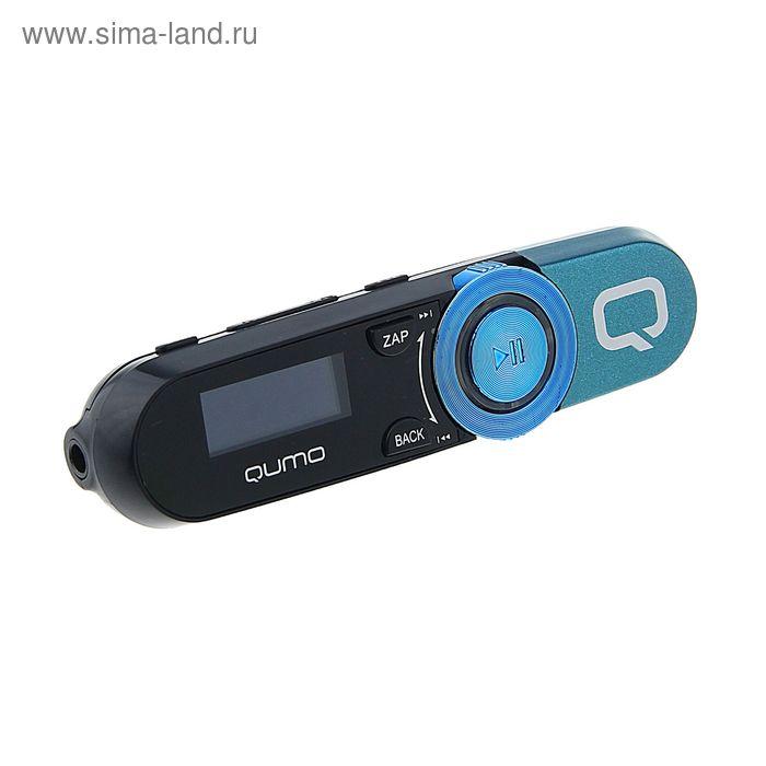 """MP3 плеер Qumo Magnitola Blue, 4 Гб, дисплей 1.1"""", USB 2.0, синий"""