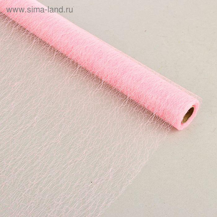 "Сетка ""Паутинка"" розовый 51 см х 5 м"
