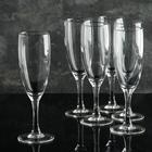 """Набор фужеров для шампанского 170 мл """"Французский ресторанчик"""", высота 18,5 см, 6 шт"""