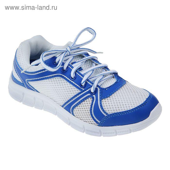 Кроссовки женские, цвет белый/синий, размер 38 (арт. LSW 0026-2-10)