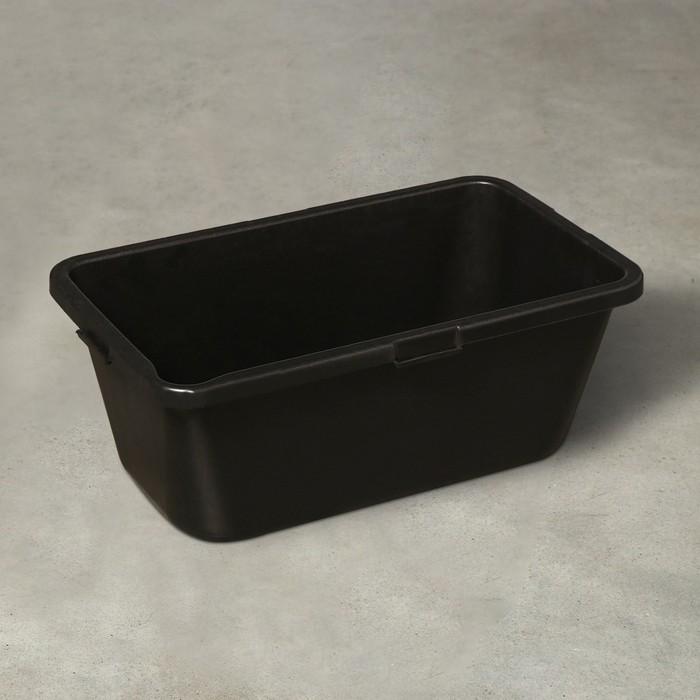 Таз строительный прямоугольный, 50 л, 721 × 414 × 285 мм, пластик - фото 7409262