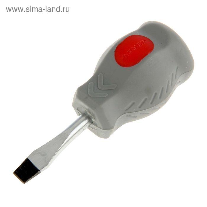 "Отвертка ""ЗУБР"" Техник, двухкомпонентная рукоятка, SL, 6 х 38 мм"