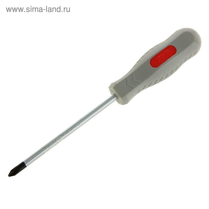 """Отвертка """"ЗУБР"""" Техник, двухкомпонентная рукоятка, PH, №1, 100 мм"""