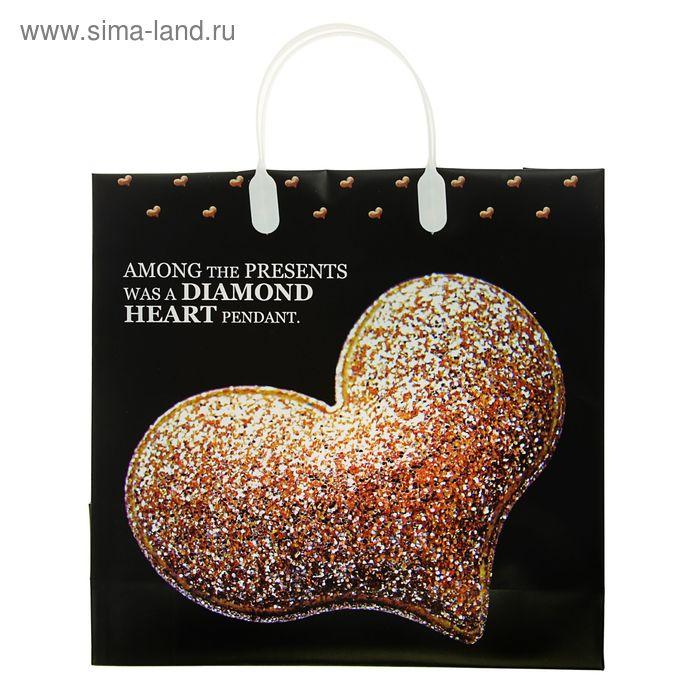 "Пакет ""Сердце"", мягкий пластик, 30 х 30 см, 140 мкм"