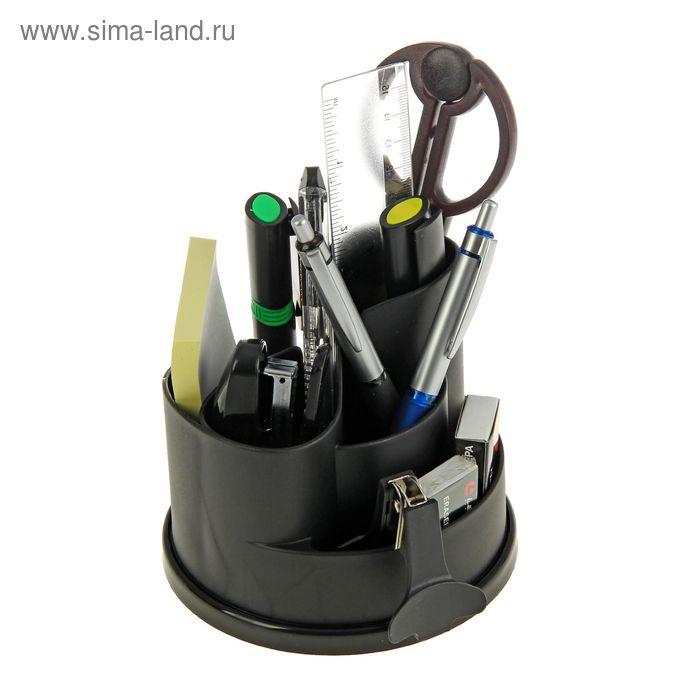 Набор настольный Lamark Koln вращающийся, премиум наполнение 12 предметов, чёрный