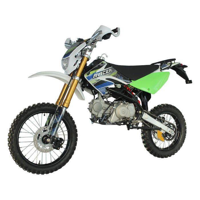 Мотоцикл Racer RC125-PE Pitbike, зелёный