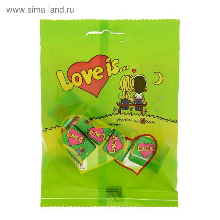 Жевательная резинка Love is, яблоко и лимон, пакет, 21 г