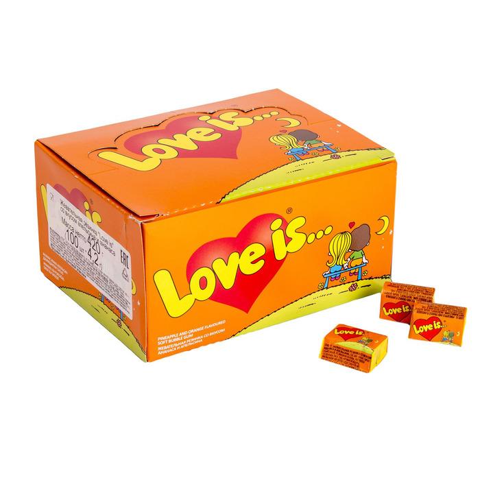 Жевательная резинка Love is, ананас и апельсин, 4,2 г