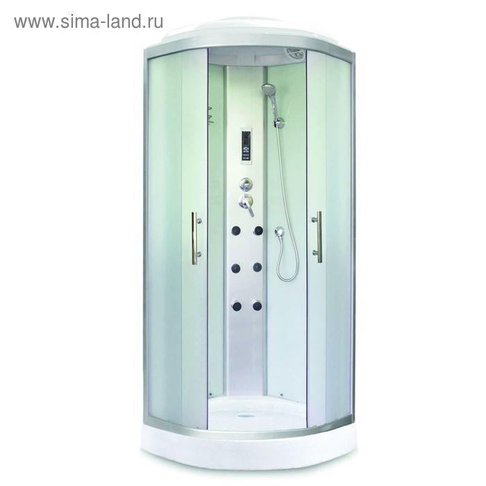 Кабина душевая Avanta 880/5 ЕС, низкий поддон, переднее стекло рифленое, 800х800х2200 мм