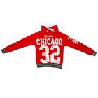 Толстовка для девочки «Чикаго 32», цвет красный, рост 134-140 (9-10 лет)