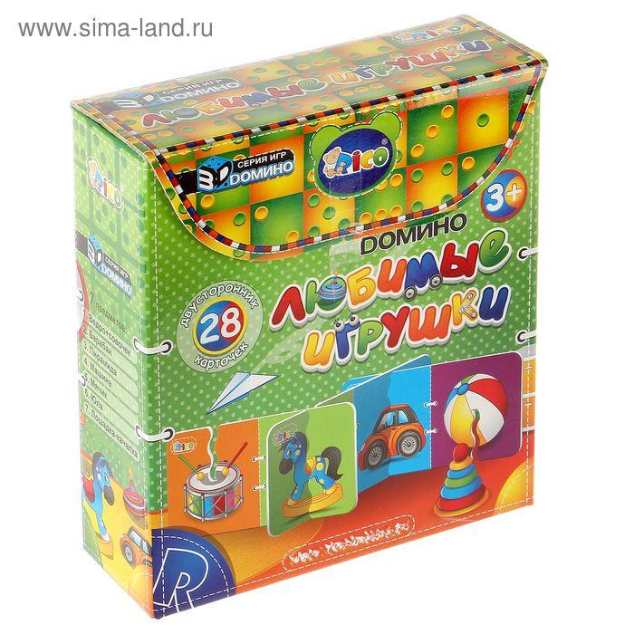 """3D-домино """"Любимые игрушки"""", 28 двухсторонних карточек"""