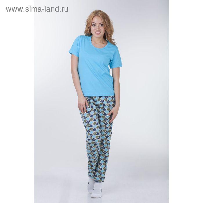 Комплект женский (футболка, брюки), цвет МИКС, размер 52 (арт. а680b)