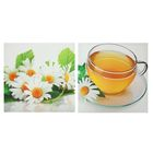 """Модульная картина на подрамнике """"Чай с ромашкой"""", 2 — 50×50 см, 50×100 см"""