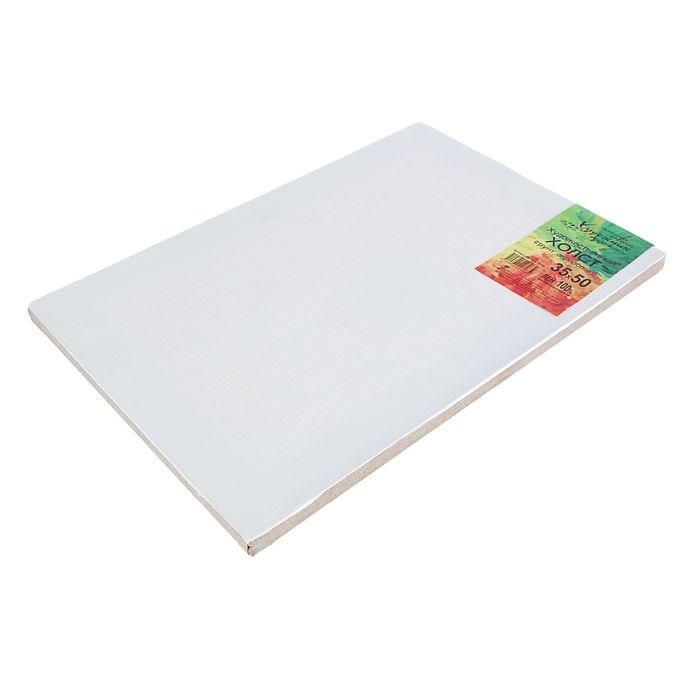 Холст на подрамнике лён 100% акриловый грунт 2*35*50 см мелкозернистый, 180 г/м²
