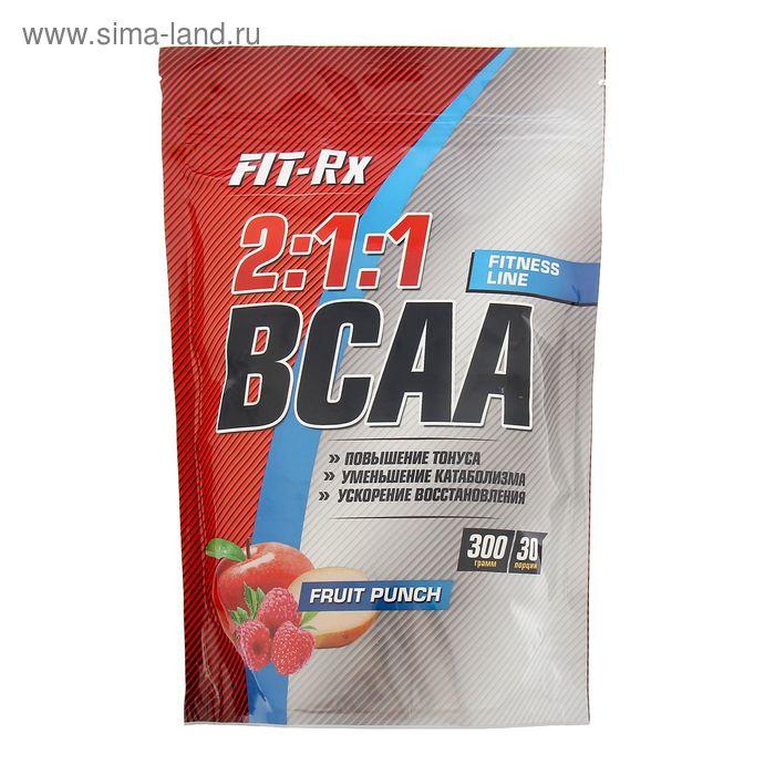 Аминокислоты Fit-RX BCAA 2:1:1 фруктовый пунш  300г