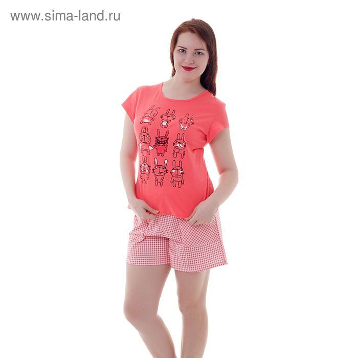 Пижама женская Кролики красные, р-р 46