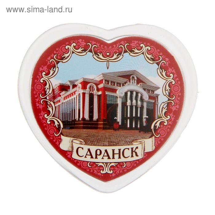 """Магнит в форме сердца """"Саранск"""""""