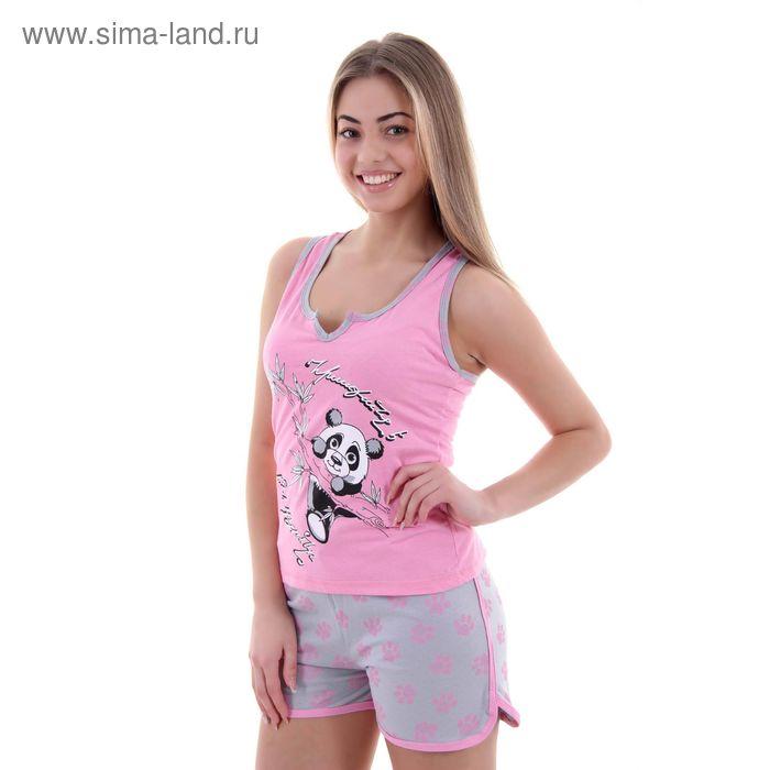 Комплект женский Ника розовый, р-р 46