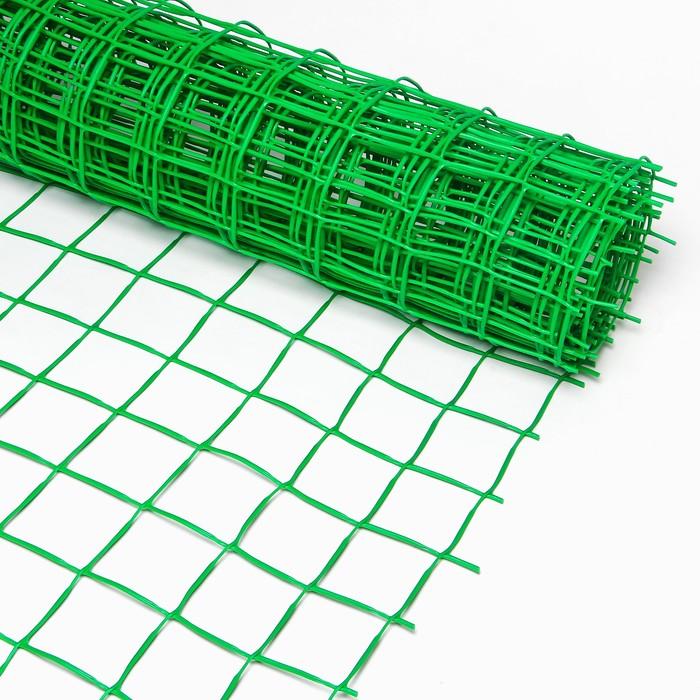 Сетка садовая, 1.05 × 5 м, ячейка 9 × 10 см, «Решётка»