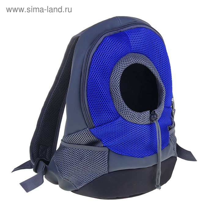 Рюкзак для переноски животных с креплением на талию и креплением для ошейника, 31х15х39 см, микс цве
