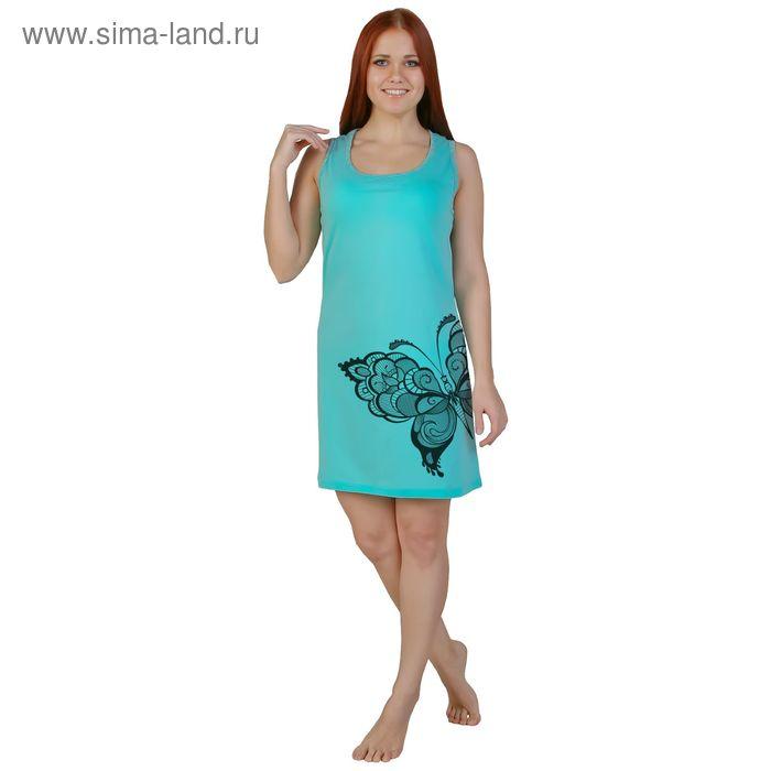 Сорочка женская Бабочка ментол, размер 44