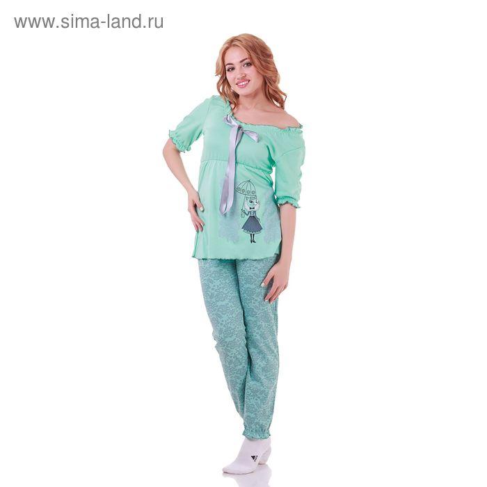 Пижама женская Прованс 210941 мята, р-р 48