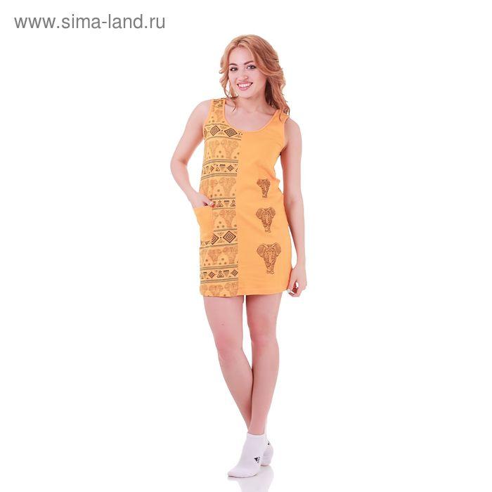 Туника женская Индийская 235521 жёлтый, р-р 46