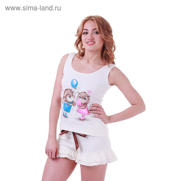 Пижама женская Совята 227841 экрю, р-р 48