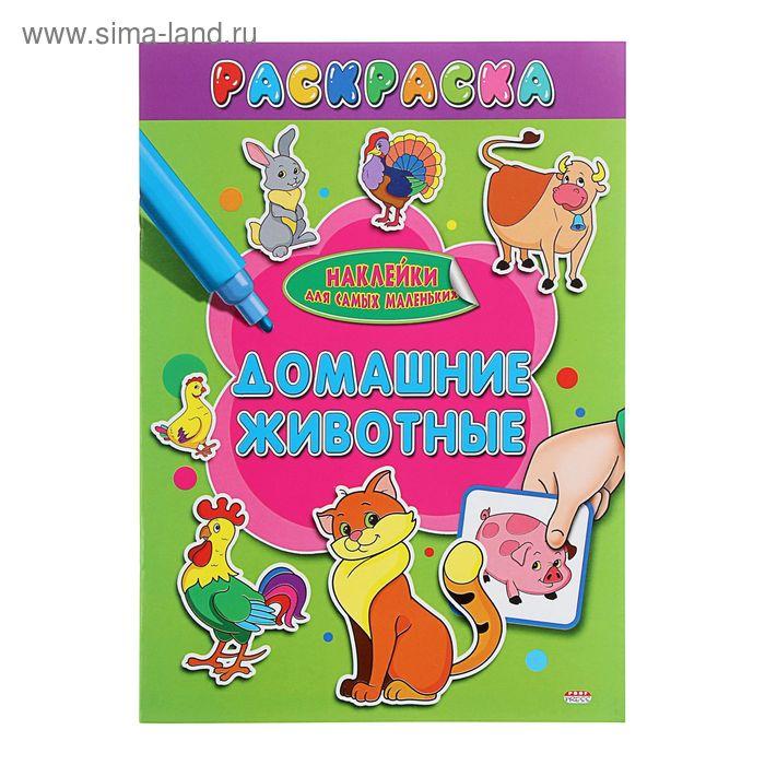 """Раскраска А4 Наклейки для самых маленьких """"Домашние животные"""""""