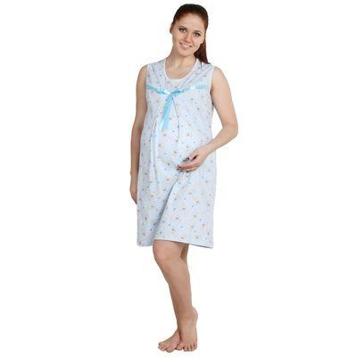 Сорочка для беременных Бейби голубая, р-р 44