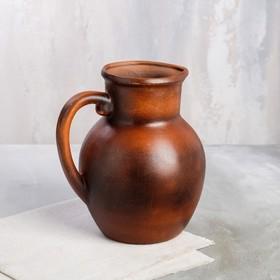 Jug krynka smooth, red clay, 2.5 l.