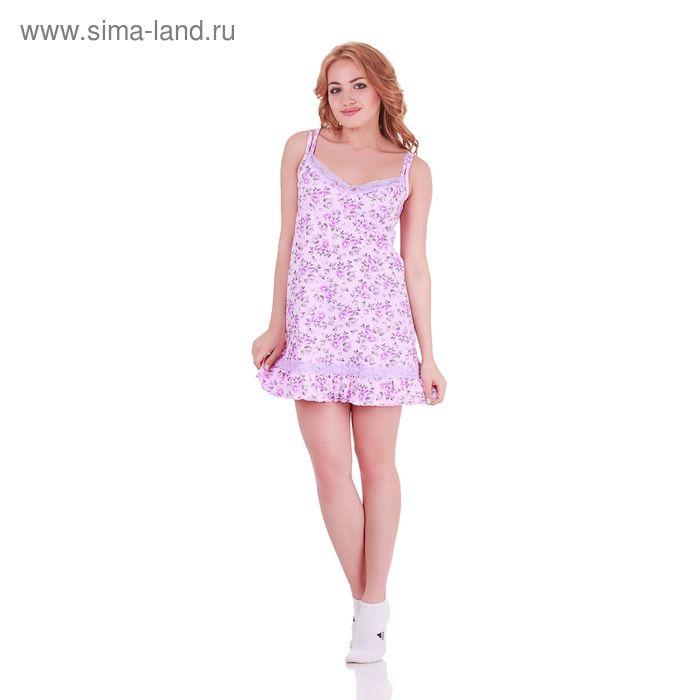 Сорочка женская Цветочная 130641 лаванда, р-р 44