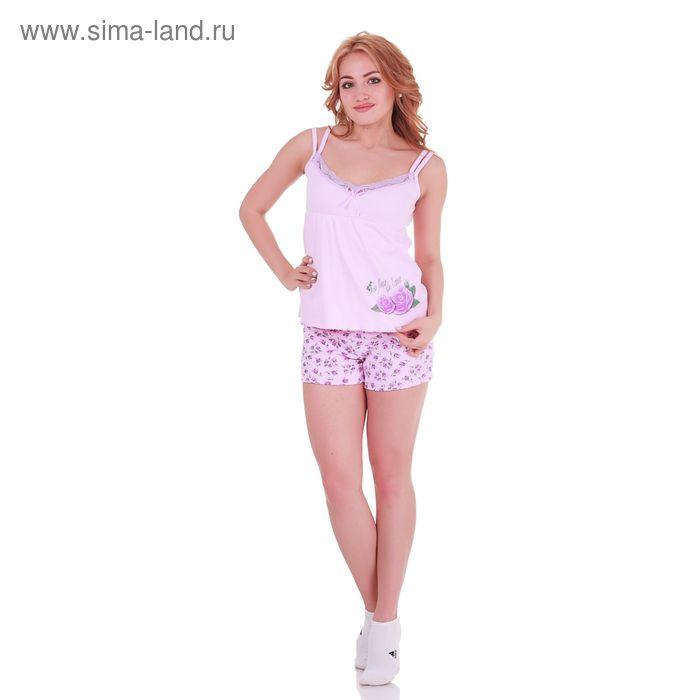 Пижама женская Цветочная 220741 лаванда, р-р 46