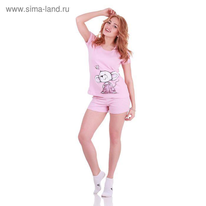 Пижама женская Mouse Collection 221141 сух.роза, р-р 48