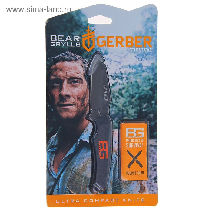 Нож нескладной Gerber Bear Grylls Ultra Compact Fixed Blade 31-001516, сталь 7Cr17MoV, рукоять-полиа