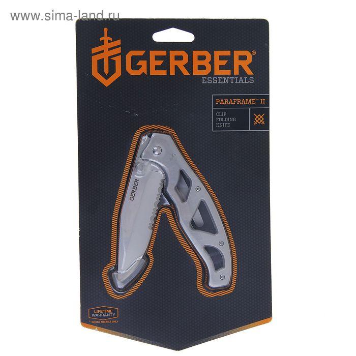 Нож складной Gerber Essentials Paraframe II, 22-48447, блистер, сталь