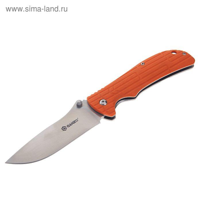 Нож складной Ganzo G723 (оранж), сталь 440C, рукоять-G10