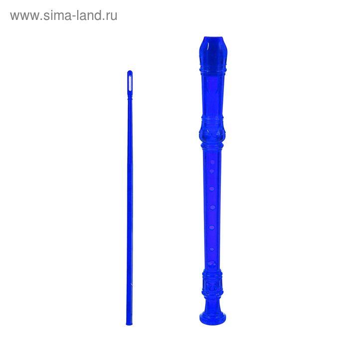 """Блокфлейта """"Sura"""" немецкая система, пластиковый кейс, синяя"""