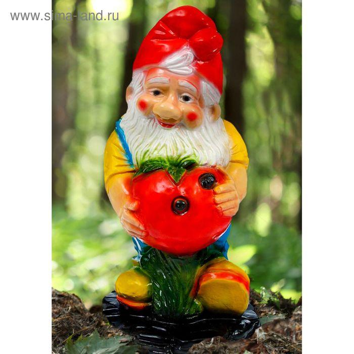 """Садовая фигура """"Гном с яблоком"""" большая"""
