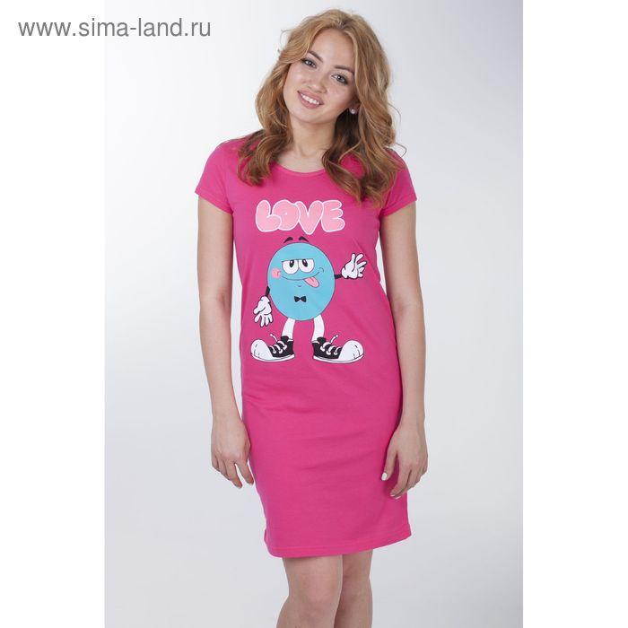 Сорочка женская ночная, цвет азалия, рост 158-164 см, размер 54 (арт.Р308089)